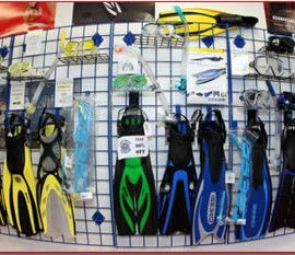 Diving equipment shop