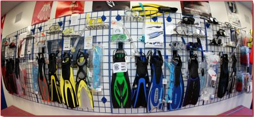 Diving equipment shop